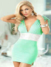 See Through Women's Dress Polyester Turquoise Size XS 8 Party