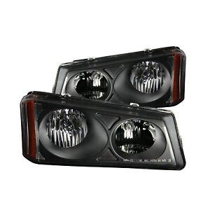 ANZO For Chevy Silverado / Avalanche 03-06 Crystal Headlights Black 111009