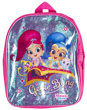 Boys Girls Character Backpack Kids School Lunch Book Bag Travel Nursery Rucksack Shimmer and Shine - Genie Bling One Size