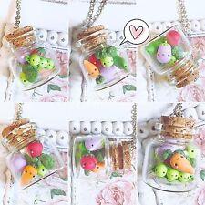 Collana Ortaggi e Verdure in Boccetta Fiala ~ Cute Veggie Necklace Fimo Polymer
