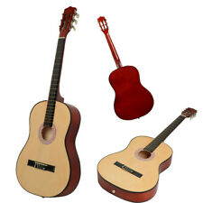 """38"""" Basswood Fingerboard Classical Acoustic Guitar Wood Color"""