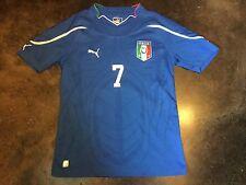 PUMA ITALIA ITALY Boys Soccer Jersey Blue Youth Large