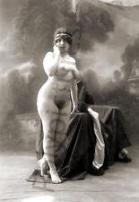 Jeune femme nue artistique portrait studio - Repro photo ancienne deb. 20e s.