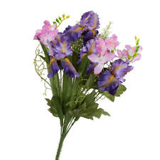 Purple Artificial Iris and Freesia Bush | 1 Piece