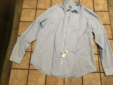 Kenneth Cole Unlisted Men's Dress Shirt Slim Fit Blue Checked Sz XL 17-171/2 NWT