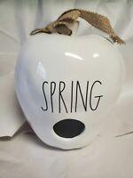 "Brand New 2020 Rae Dunn by Magenta L/L ""SPRING"" Ceramic Apple Birdhouse HTF Rare"