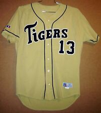 MISSOURI TIGERS #13 GOLD MESH COLLEGE Russell Size 44 BASEBALL JERSEY