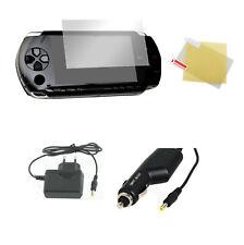 Chargeur secteur + allume cigare + film protection écran PSP 1000 2000 3000- 1 m
