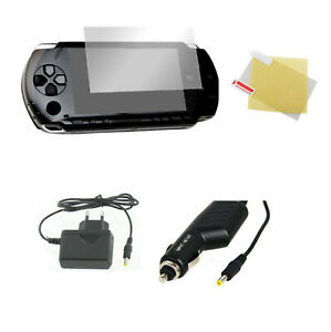 Pack PSP 3004 : Chargeur secteur + allume cigare + film protection écran