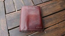 lovely conker brown leather Fossil wallet coin pouch credit card case