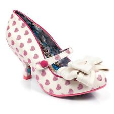 Irregular Choice NEW Piccolo red tartan check gold glitter mid heel shoes sz 3-9