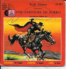 LIVRE DISQUE WALT DISNEY--UNE AVENTURE DE ZORRO--GAETAN JOR