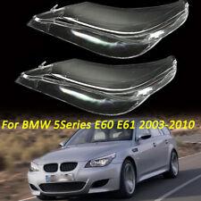 Left&Right Headlight Lens Cover For BMW 5series E60 E61 525i 540i 550i 2003-2010