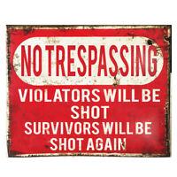 No Trespassing Warning Sign Robot Wall Art Vinyl Bedroom Decal Dalek Sticker