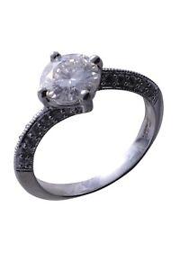 Forever Brilliant 1.27Ct Round Colourless Moissanite White Gold Engagement Ring