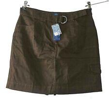 Karen Scott Womens Size 10 Chocolate Cotton Zip Fly Belted Skorts NWT