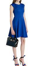5f71932cc Ted Baker Arwyn Bright Blue Paneled Skater Dress Size 4 UK 14