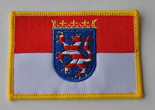AUFNÄHER PATCH 0273 AUFBÜGLER HESSEN FAHNE FLAGGE  WAPPEN SAMMLER NEU