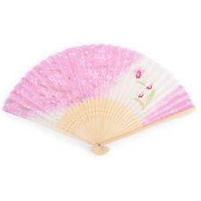 Rose fleur de cerisier japonais pliable ventilateur