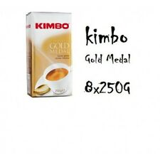 8x Coffee Kimbo Espresso GOLD MEDAL AROMA 250g ground italian caffè