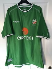 Republic Of Ireland Football Shirt 2001-03 Umbro XL Vintage Soccer Jersey Tr