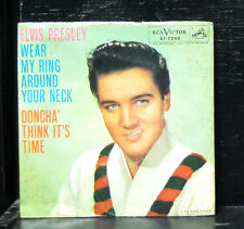 """Elvis Presley - Wear My Ring Around Your Neck VG 7"""" 1958 USA RCA Victor 47-7240"""