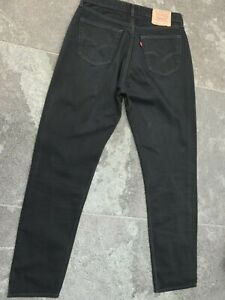LEVI'S 508 REGULAR FIT TAPERED LEG BLACK JEANS W 34 L 36 VERY GOOD CONDITION!