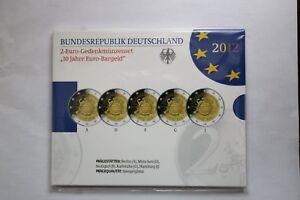 5 X 2 EURO  BELLE EPREUVE  ALLEMAGNE 2012 LES DIX ANS DE L'EURO
