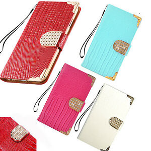 """Luxury Bling Diamond Leather Case Magnetic Flip Wallet Cover For iPhone 6 4.7"""""""