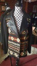 Veste bi-matière avec cuir véritable - Zara