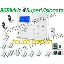 Kit Allarme 868Mhz SuperVisionato inseritore chiave Centrale GSM Wireless Casa