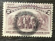 US Scott #231 Landing of Columbus 2 Cent Used