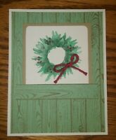Stampin up card making kit - Painted Harvest - Mint - Hardwood Wreath with Bow