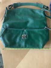 Vintage Dooney & Bourke Leather Kelly Green Satchel Purse Handbag