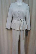 Le Suit 4970 Womens City Blooms 2pc Collarless Pant Suit Petites BHFO 12p 30