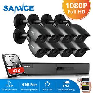 SANNCE 8CH 5IN1 CCTV 1080P HDMI DVR Home Security 3000TVL Camera System IR Cut