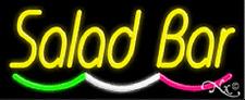 "NEW ""SALAD BAR"" 32x13 MULTICOLOR UNDERLINE REAL NEON SIGN w/CUSTOM OPTIONS 10886"
