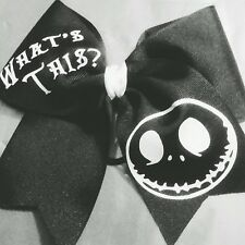 Nightmare Before Christmas Jack Skellington Big Cheer Size Hair Bow Halloween