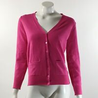 Isaac Mizrahi Cardigan Sweater Size Small Pink Solid V Neck Solid Button Up Top