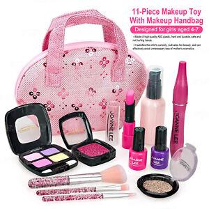 11 Pcs Kids Make Up Set Toys Beauty Makeup Kit Safe Glamour Girl Gift Children