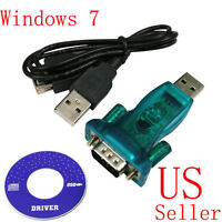 USB 2.0 TO 9PIN DB9 RS232 COM Port Serial Convert Adapter + USB Cable Cord US