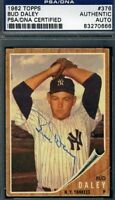 Bud Daley 1962 Topps Signed Psa/dna Yankees Autograph Authentic