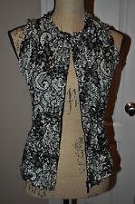 Womens JOSEPH RIBHOFF Black/White Vest/Top Size 10~NICE~