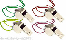 4 Metal Whistle & Lanyard Emergency Survival, Party's
