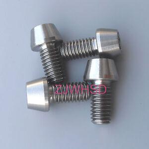 4pcs M6x12 Titanium Ti Screw Bolt Allen hex Taper Socket Cap head/AerospaceGrade
