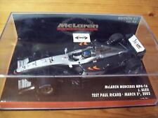 1/43 McLAREN 2002 MP4/16 MERCEDES JEAN ALESI PAUL RICARD TEST