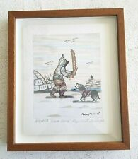 New ListingIntuit Drawing 'Drum Dance' Cape Dorset by Goo Pootoogook Signed