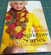 Knitting Book - NICKY EPSTEIN'S SIGNATURE SCARVES - 2008 - FREE SHIPPING