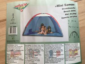 """Wehncke Strandmuschel """"Mini Samoa"""" Strandzelt, Art.Nr. 15809 Neu OVP Unbenutzt"""