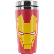 Iron Man - Helm Logo Doppelte Mauern Isoliert Reisebecher Neu Offiziell Marvel